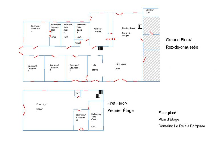 Floorplan Domainen Le Relais